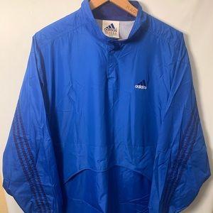 VTG Blue Black Adidas Nylon Track Jacket 3 Stripe